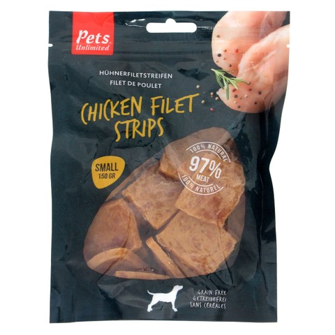 Pets Unlimited Chicken Filet Strips Small 150g