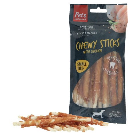 Pets Unlimited Chewy Sticks With Chicken 10st
