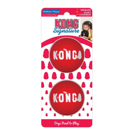 Kong Signature Balls 2-pk M