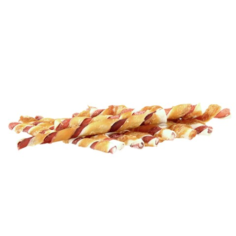 Pets Unlimited Tricolor Chewy Sticks With Chicken Small 10 Pcs