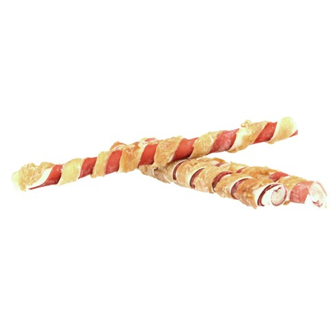 Pets Unlimited Tricolor Chewy Sticks Large With Chicken 3 Pcs