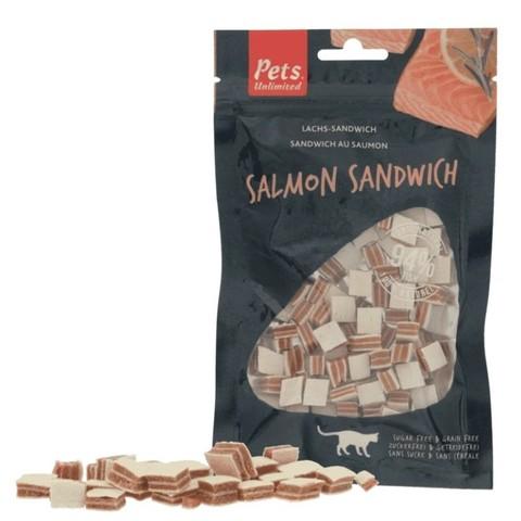 Pets Unlimited Salmon Sandwich Cat Treats 50g