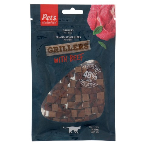 Pets Unlimited Grillers Cat Treats With Beef 50g