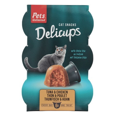 Pets Unlimited Delicups Tuna & Chicken
