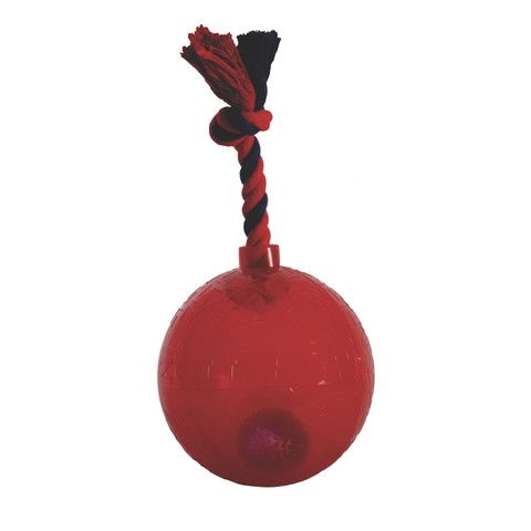 Spark Led Tug Toy With Rope Red Large
