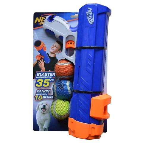 """Nerf Dog Tennis Ball Blaster Dog Toy With 3 X 2"""" Squeak Balls"""