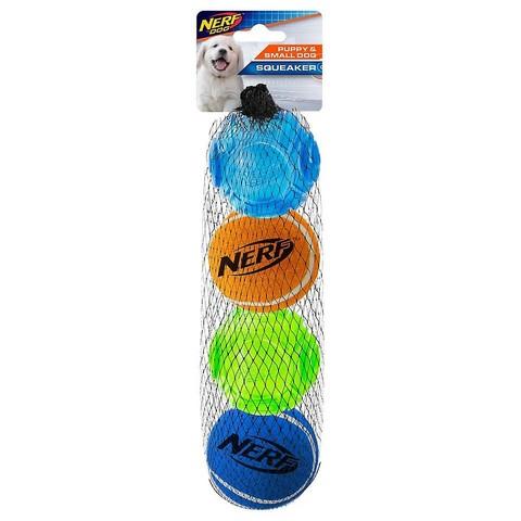 "Nerf Dog Puppy Tpr Sonic/tennis Ball 4pk (2"")"