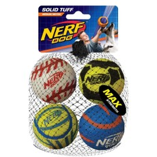 Nerf Mega Strength Sports Balls 4pk Medium (2.5