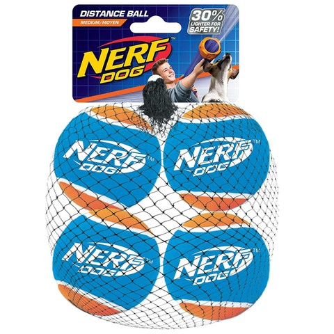 "Nerf Dog Blaster Distance Balls (2.5"") (4 Pack)"