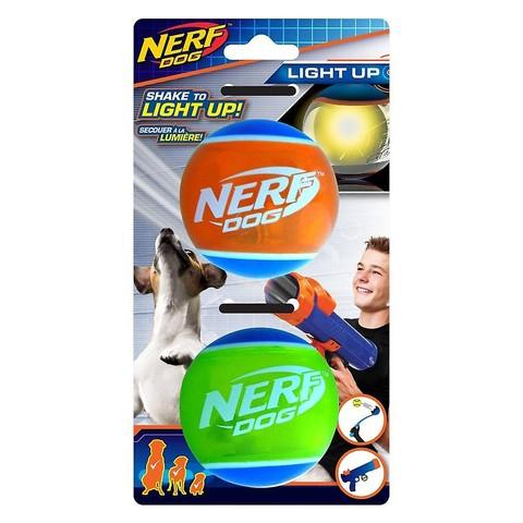 "Nerf Dog Led Tpr Tennis Ball 2pk (2.5"")"