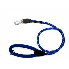 Long Paws Rope Leash Small Navy Blue