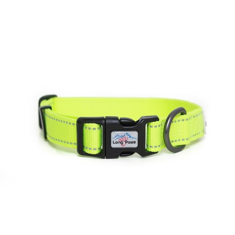 Long Paws Neon Reflective Collar Large
