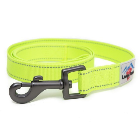 Long Paws Neon Reflective Webbing Leash Small