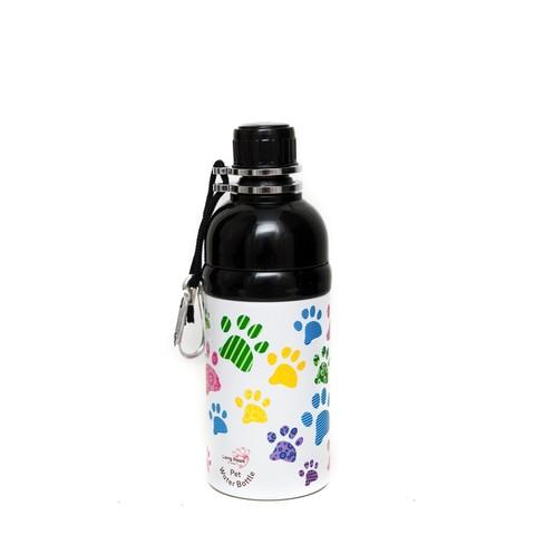 Pet Water Bottle 500ml Paws