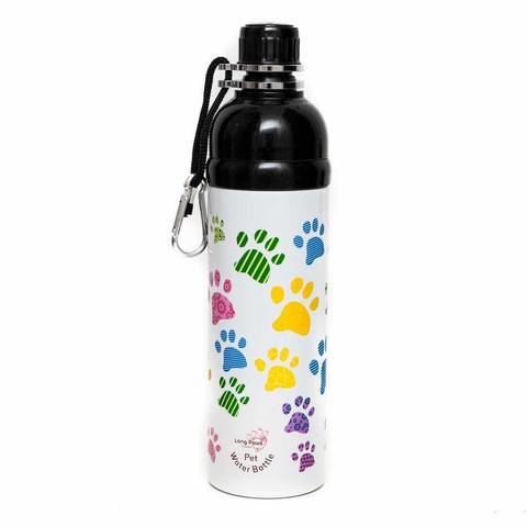 Pet Water Bottle 750ml Paws