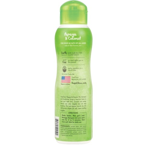 Tropiclean Papaya & Coconut Shampoo 355ml