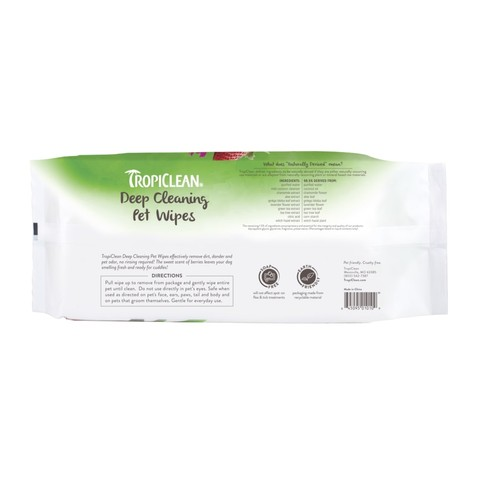 Tropiclean Deep Cleaning Wipes 100