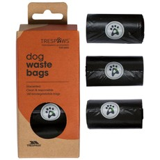 Trespaws Black Pebble Dash Dog Waste Refill Bags