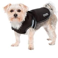 Butch Black Fleece Lined Softshell Dog Jacket (xs)
