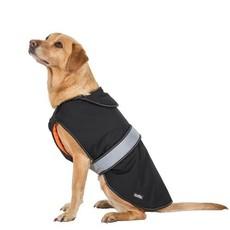 Butch Black Black Fleece Lined Softshell Dog Jacket (l)