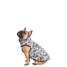 Trespaws Charly Grey Dog Camo Printed Waterproof Dog Rain Coat (m)