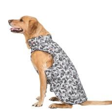 Trespaws Charly Grey Dog Camo Printed Waterproof Dog Rain Coat (l)