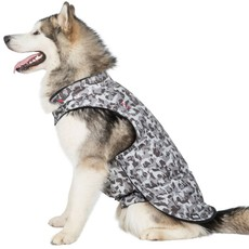 Trespaws Charly Grey Dog Camo Printed Waterproof Dog Rain Coat (xl)