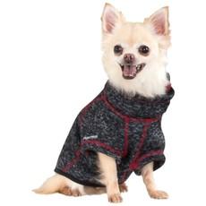 Trespaws Boomer Black Melange Windproof Dog Fleece Xxs