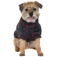 Trespaws Boomer Black Melange Windproof Dog Fleece Xs