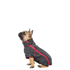 Trespaws Boomer Black Melange Windproof Dog Fleece M