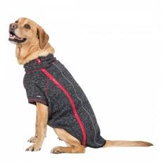 Trespaws Boomer Black Melange Windproof Dog Fleece L