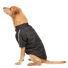 Trespaws Khaos Black Waterproof Dog Raincoat Tp50 (l)