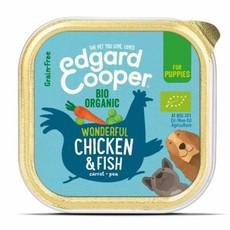 Edgard & Cooper Organic Puppy Grain Free Wet Dog Food With Chicken & Fish 17 X  100g