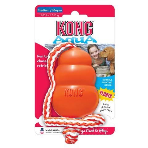 Kong Cool Aqua On Rope Medium