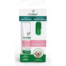 Vets Best Dental Care Kit For Puppies Finger Brush & Toothpaste