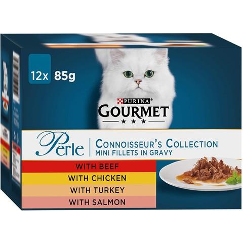 Gourmet Perle Connoisseur Cat Food Pouch 12x85g