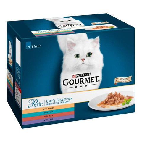 Gourmet Perle Chefs Selection Cat Food Pouch 12x85g