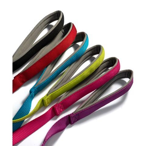 Ancol Viva Padded Nylon Lead Purple 1mx25mm