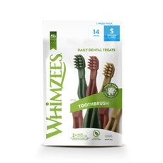 Whimzees Toothbrush Week Pack Small 14 Chews