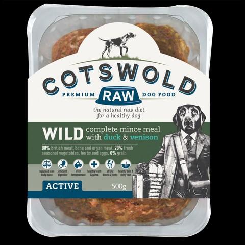 Cotswolds Adult Working Duck & Venison Mince Active 500g