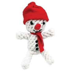 Happy Pet Christmas Rope Snowman