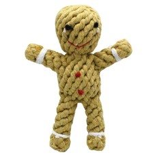 Happy Pet Christmas Rope Gingerbread Man