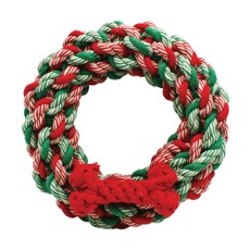 Happy Pet Christmas Rope Wreath Toy