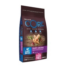 Wellness Core Large Breed Puppy Chicken And Turkey Grain Free Dry Dog Food 10kg + 2kg Free