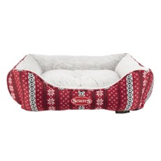 Scruffs Santa Paws Box Bed (m) Burgandy