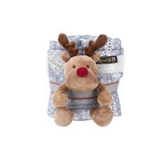 Scruffs Santa Paws Blanket & Reindeer Gift Set Grey