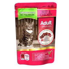Natures Menu Adult Cat Pouch With Beef And Chicken 100g
