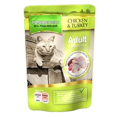 Natures Menu Adult Cat Pouch With Chicken And Turkey 100g