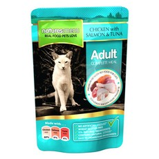 Natures Menu Adult Cat Pouch With Chicken, Salmon And Tuna 100g