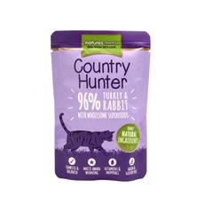 Natures Menu Country Hunter Superfood Grain Free Turkey And Rabbit Cat Pouches 85g